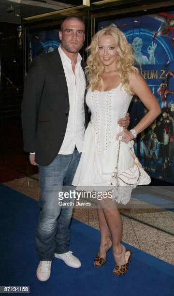 Liz Fuller and boyfriend arrive at the World premiere of 'Night At The Museum 2' at Empire Leicester Square on May 12 2009 in London England