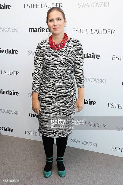 Liz Gannes Senior Editor Re/code attends Marie Claire's SecondAnnual New Guard Lunch at Hearst Tower on October 30 2014 in New York City