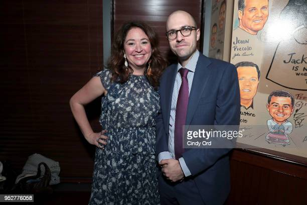 Liz Garbus and AG Sulzberger attend the Showtime's World Premiere of The Fourth Estate at Tribeca Film Festival after party at THE PALM TRIBECA on...