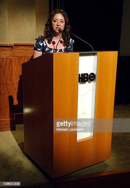 Liz Garbus Director and Producer during Coma New York City Premiere and Screening Presented by HBO Documentary Films at HBO Theater in New York City...