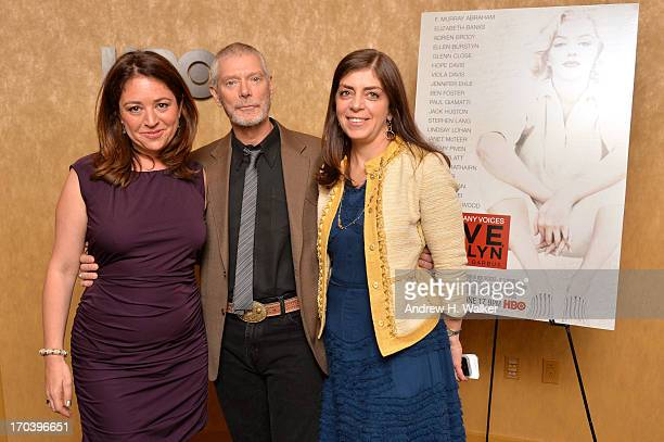 Liz Garbus Stephen Lang and Nancy Abraham attend HBO's Love Marilyn New York Screening at HBO Theater on June 12 2013 in New York City