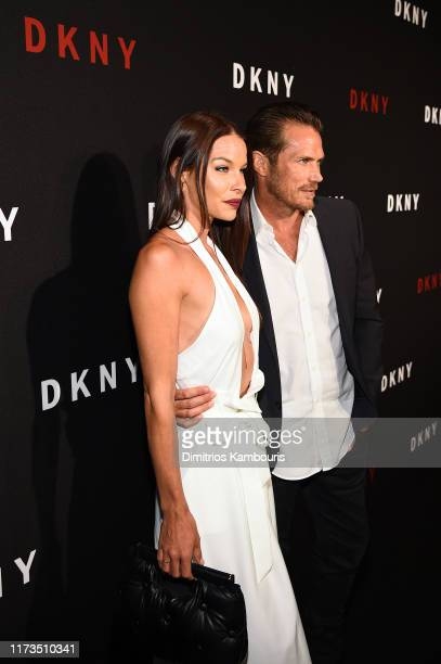 Liz Godwin and Jason Lewis attend as DKNY turns 30 with special live performances by Halsey and The Martinez Brothers at St Ann's Warehouse on...