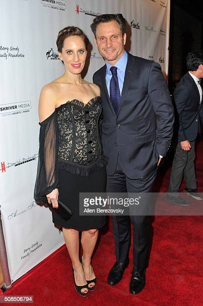 """Liz Goldwyn and her brother actor Tony Goldwyn attend the U.S. Premiere of Debbie Allen's """"Freeze Frame"""" at The Wallis Annenberg Center for the..."""