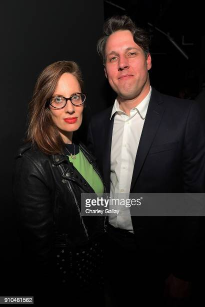 Liz Goldwyn and Tim Fleming of Art Los Angeles Contemporary attend ALAC Music Series @ Zebulon Presents Cat Power at Zebulon on January 25 2018 in...
