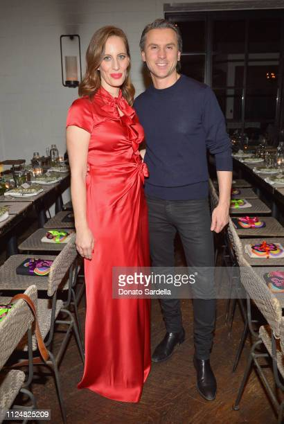 Liz Goldwyn and Ulric Jerome attend Liz Goldwyn and MATCHESFASHIONCOM celebrate the launch of Frieze LA at Gracias Madre on February 13 2019 in West...