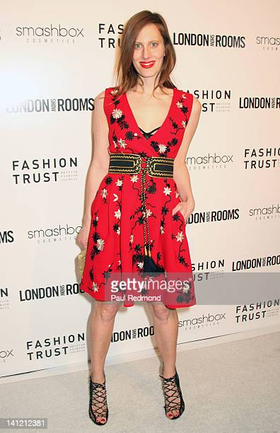 Liz Goldwyn arrives at British Fashion Council's International Showcasing Initiative London Show Rooms LA Cocktail Party at Smashbox Studios on March...