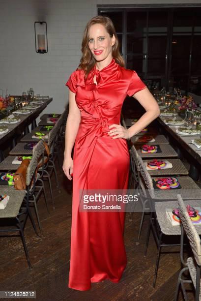 Liz Goldwyn attends Liz Goldwyn and MATCHESFASHIONCOM celebrate the launch of Frieze LA at Gracias Madre on February 13 2019 in West Hollywood...