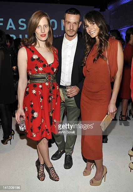 Liz Goldwyn Jonathan Saunders and Jordana Brewster attend the British Fashion Council's LONDON Show ROOMS LA opening cocktail party at Smashbox...