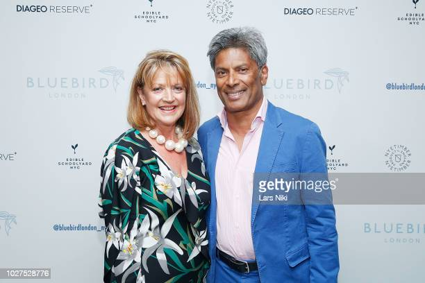 Liz Gunewardena and Des Gunewardena attend the Bluebird London New York City launch party at Bluebird London on September 5 2018 in New York City