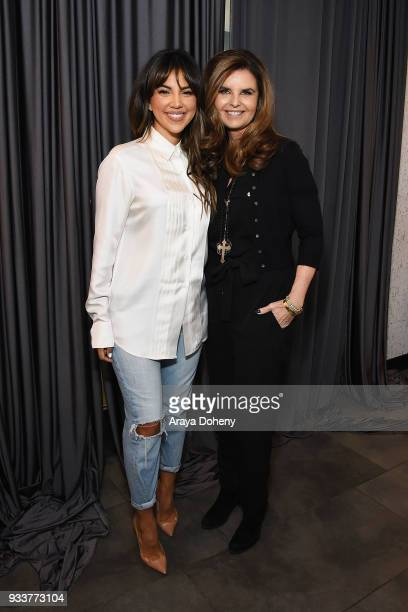 Liz Hernandez and Maria Shriver attend the Liz Hernandez Wordaful Live X Maria Shriver event on March 18 2018 in Glendale California