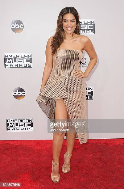 Liz Hernandez arrives at the 2016 American Music Awards at Microsoft Theater on November 20 2016 in Los Angeles California