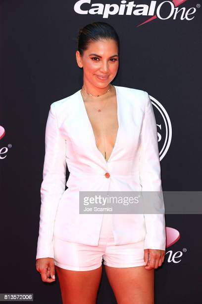 Liz Hernandez arrives at the 2017 ESPYS at Microsoft Theater on July 12 2017 in Los Angeles California