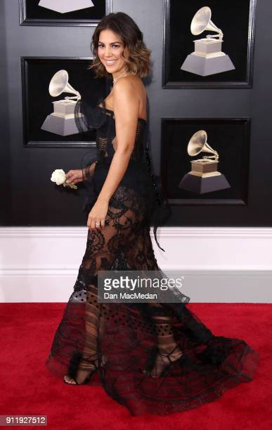 Liz Hernandez arrives at the 60th Annual GRAMMY Awards at Madison Square Garden on January 28 2018 in New York City