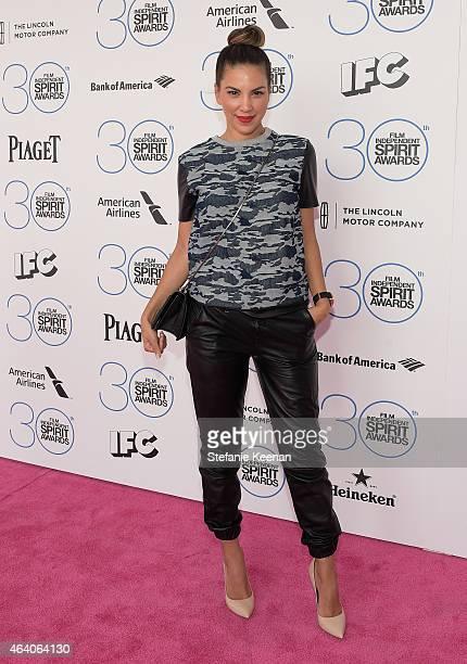 Liz Hernandez attend the 30th Annual Film Independent Spirit Awards at Santa Monica Beach on February 21 2015 in Santa Monica California