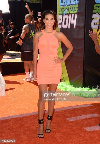 Liz Hernandez attends Nickelodeon Kids' Choice Sports Awards 2014 at UCLA's Pauley Pavilion on July 17 2014 in Los Angeles California