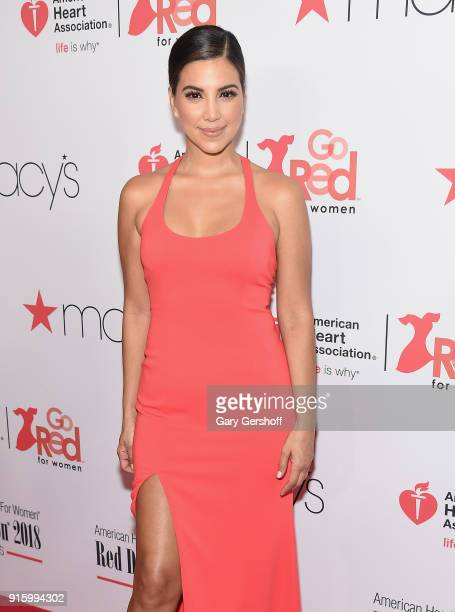 Liz Hernandez attends the Red Dress / Go Red For Women Fashion Show at Hammerstein Ballroom on February 8 2018 in New York City