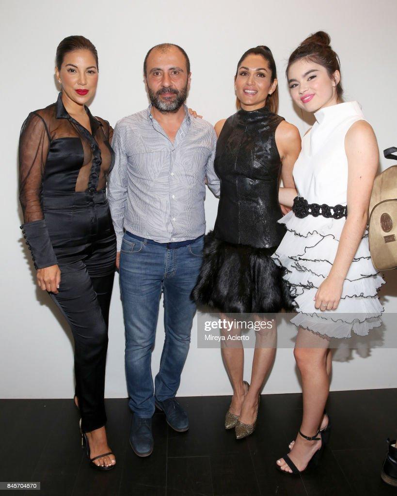 Liz Hernandez, John Paul Ataker, Lela Loren and Landry Bender attend the John Paul Ataker fashion show during New York Fashion Week: The Shows at Gallery 1, Skylight Clarkson Sq on September 11, 2017 in New York City.