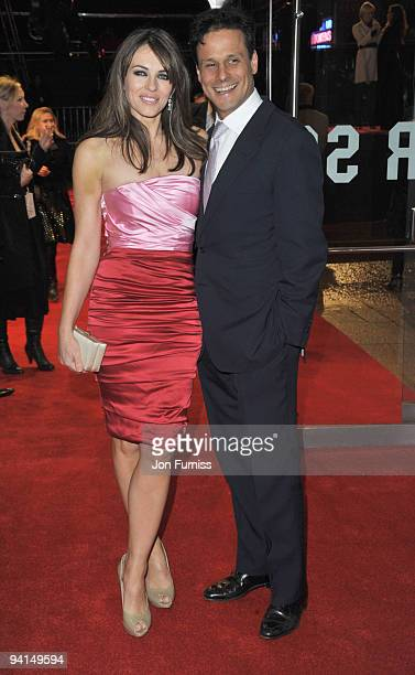 Liz Hurley and Arun Nayar attend the Gala Premiere of 'Did You Hear About The Morgans' at Odeon Leicester Square on December 8 2009 in London England