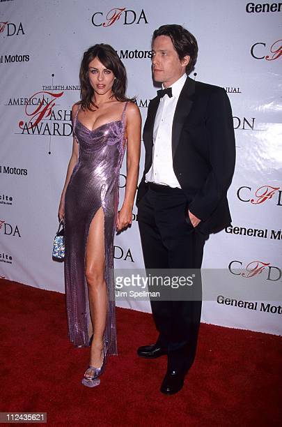Liz Hurley and Hugh Grant during 18th Annual CFDA Awards at 69th Regiment Armory in New York City, New York, United States.