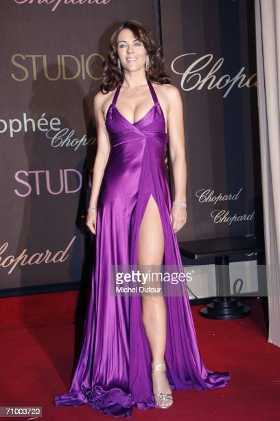 Liz Hurley arrives for the Trophee Chopard ceremony which awards the best young actor and actress of the year at the Carlton Hotel as part of the...