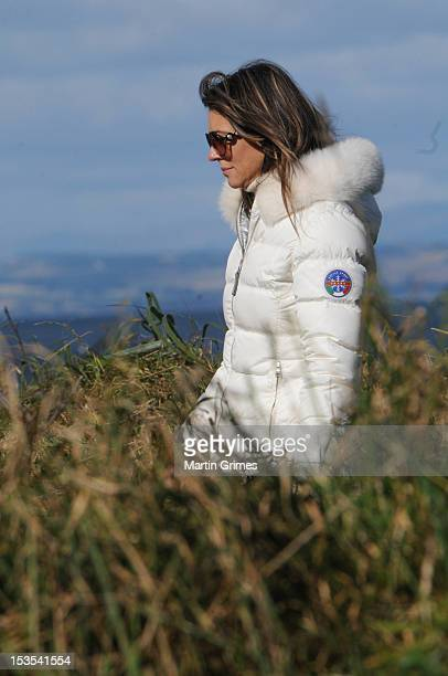 Liz Hurley attends the Alfred Dunhill Links Championships on October 06 2012 in St Andrews United Kingdom