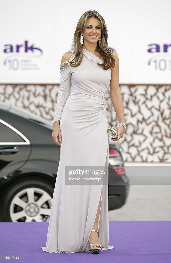 Liz Hurley attends the ARK 10th Anniversary Gala Dinner at perk's Field on June 9, 2011 in London, England.