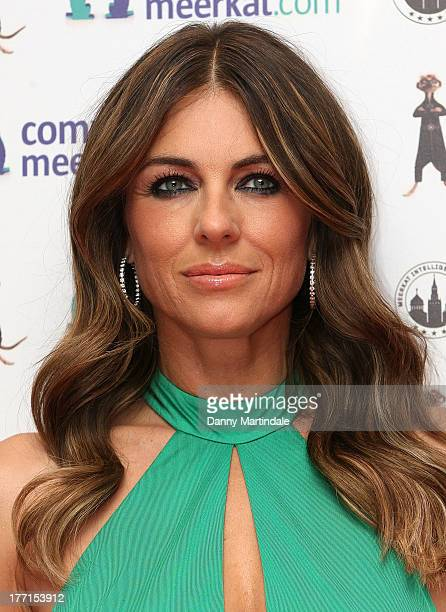 Liz Hurley attends the Comparethemarketcom launch party at the Troxy on August 21 2013 in London England