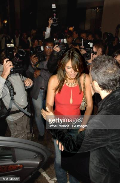 Liz Hurley leaves Patrick Cox's anniversary party on Tuesday 20 September 2005 at NOBO Central London PRESS ASSOCIATION Photo Photo Credit should...