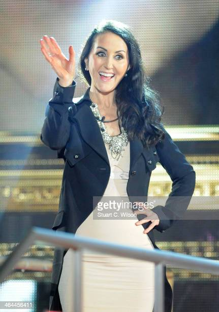 Liz Jones is evicted from the Celebrity Big Brother house at Elstree Studios on January 22 2014 in Borehamwood England
