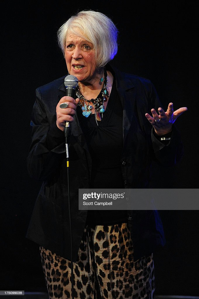 Liz Lochhead performs during the Assembly Rooms Press Launch at The Edinburgh Festival Fringe on July 31, 2013 in Edinburgh, Scotland.
