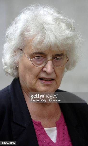 Liz Longhurst the Mother of murdered teacher Jane Longhurst arrives at the Old Bailey central London for the retrial of Musician Graham Coutts who is...