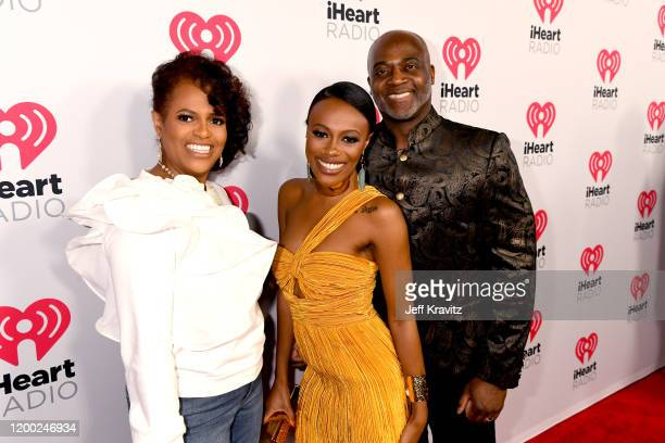 Liz Mack Juju Bae and Andrew Mack attend the 2020 iHeartRadio Podcast Awards at the iHeartRadio Theater on January 17 2020 in Burbank California