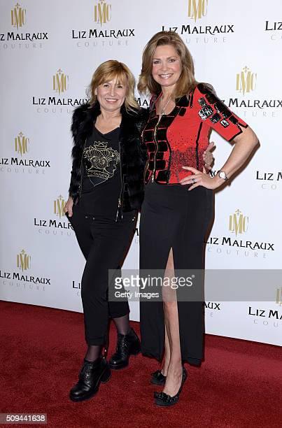 Liz Malraux and Maren Gilzer attend Liz Malraux Fashion Show at Hotel Atlantic on February 10 2016 in Hamburg Germany