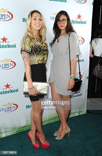 Liz Margulies and Claudia Martinez Reardon attend the Heineken 2012 US Open Player Party at the Gansevoort Park Hotel on August 24 2012 in New York...