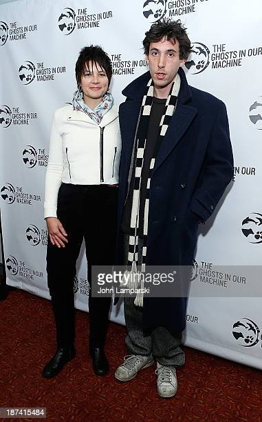 """Liz Marshall and Donald Cumming attend The Ghost In Our Machine"""" New York Screening at Village East Cinema on November 8, 2013 in New York City."""