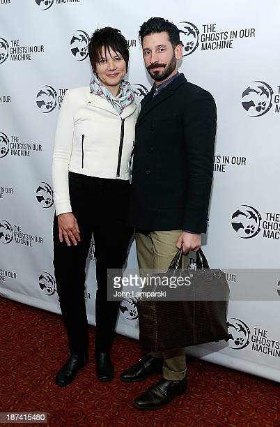 """Liz Marshall and Joshua Katcher attend The Ghost In Our Machine"""" New York Screening at Village East Cinema on November 8, 2013 in New York City."""