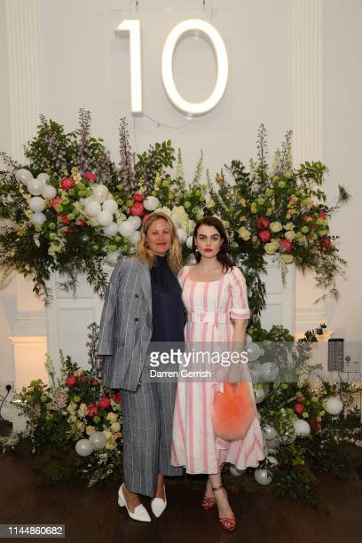 Liz Matthews and Charli Howard attend the Outnet's 10th Anniversary Dinner on April 24 2019 in London England