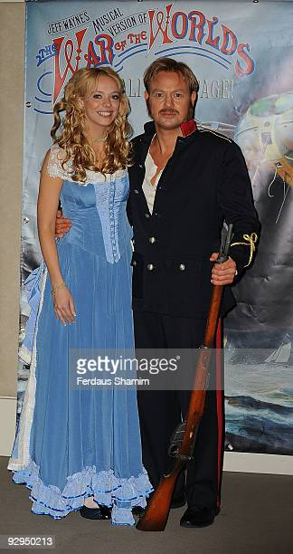 Liz McClarnon and Jason Donavan attend a photocall for War Of The Worlds Launch on November 10 2009 in London England