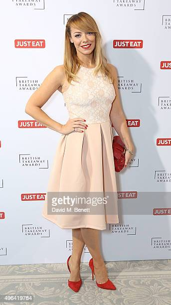 Liz McClarnon arrives at the British Takeaway Awards in association with JUST EAT at The Savoy Hotel on November 9 2015 in London England