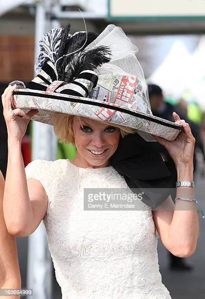 Liz McClarnon attends Ladies Day at Aintree on April 5 2013 in Liverpool England Friday is traditionally Ladies day at the threeday meeting of the...