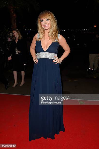 Liz McClarnon attends the Emeralds Ivy Ball in aid of Cancer Research UK and the Marie Keating Foundation at Embankment Gardens on December 5 2015 in...