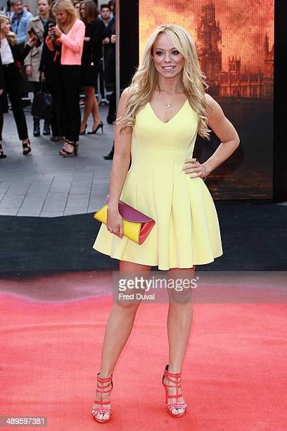 Liz McClarnon attends the European premiere of 'Godzilla' at Odeon Leicester Square on May 11 2014 in London England