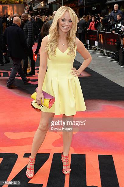 Liz McClarnon attends the European premiere of 'Godzilla' at the Odeon Leicester Square on May 11 2014 in London England
