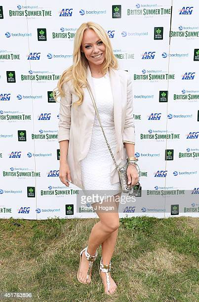 Liz McClarnon backstage at British Summer Time Festival at Hyde Park on July 6 2014 in London United Kingdom
