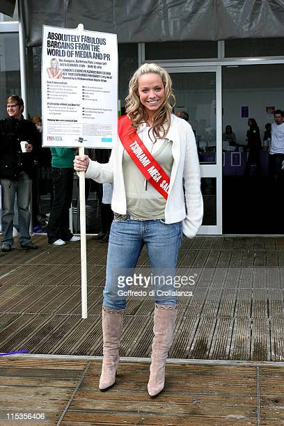 Liz McClarnon during Absolutely Fabulous Charity Sale Opening and Photocall at The Marquee in London Great Britain