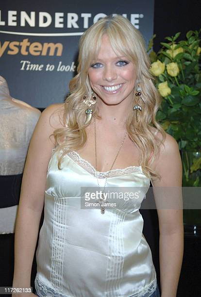 Liz McClarnon during Liz McClarnon Unveils the New Range from Slendertone System at National Magazine Company in London Great Britain