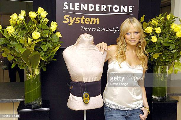 Liz McClarnon during Liz McClarnon Unveils the New Range from Slendertone System August 8 2006 at National Magazine House in London Great Britain