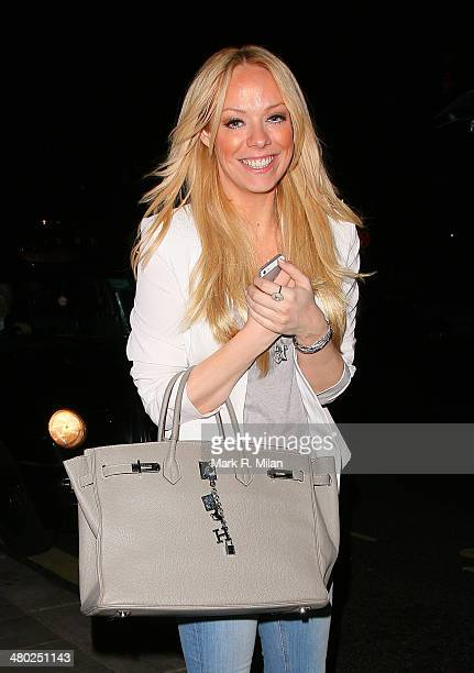 Liz McClarnon is seen at STK Restaurant on March 24 2014 in London England