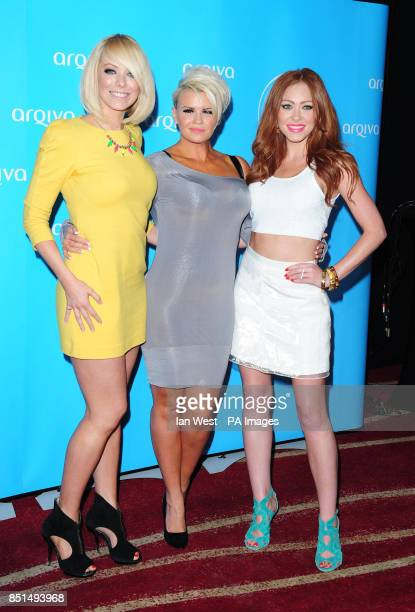Liz McClarnon Kerry Katona and Natasha Hamilton arriving at the Arqiva Commercial Radio Awards held at the Westminster Bridge Park Plaza Hotel London