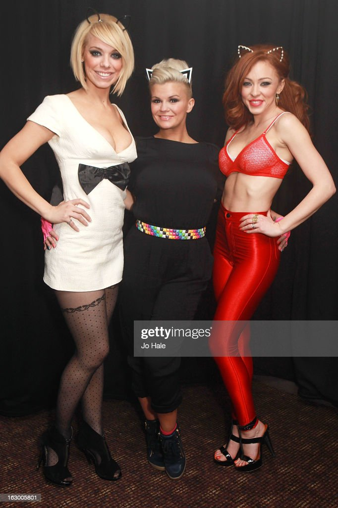Liz McClarnon, Kerry Katona and Natasha Hamilton of Atomic Kitten pose back stage at G-A-Y on March 2, 2013 in London, England.